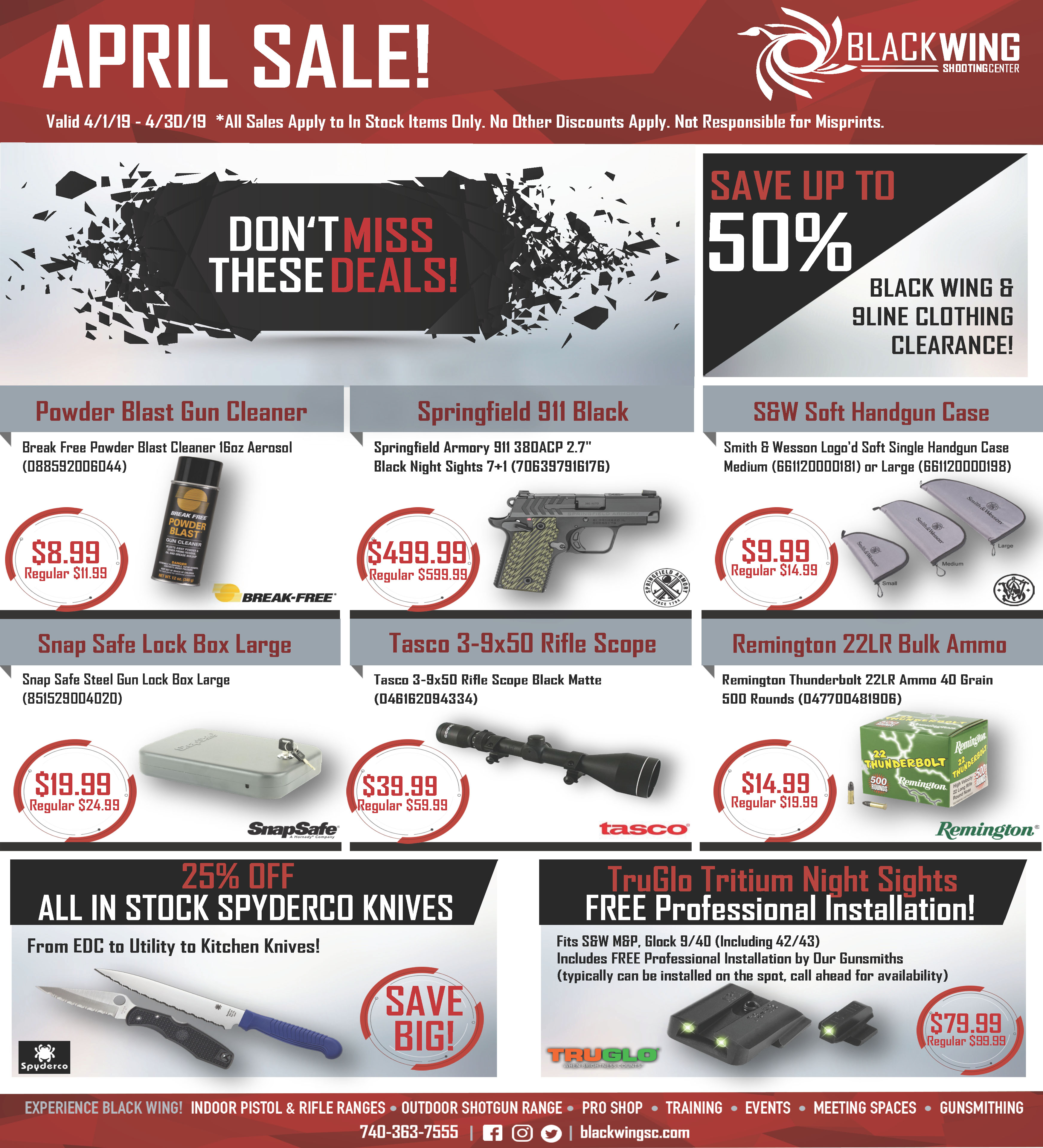 April Sales Current Specials