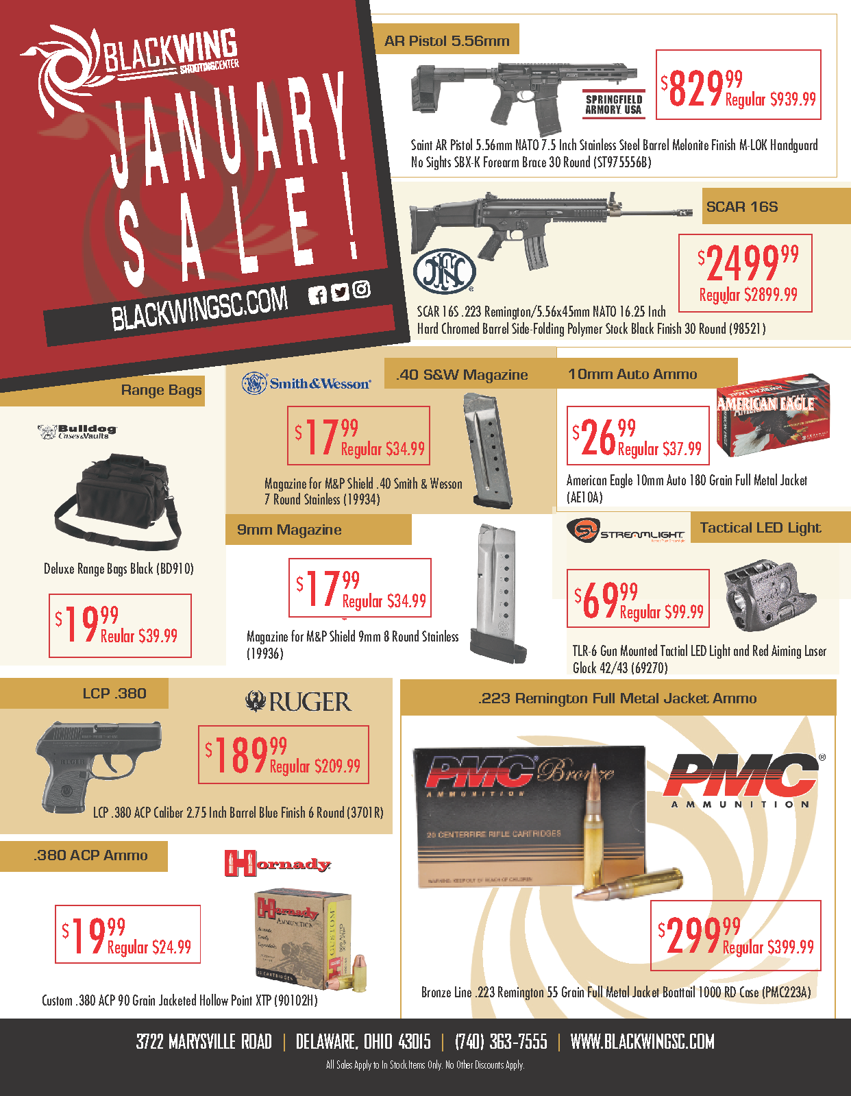 January Sale Current Specials